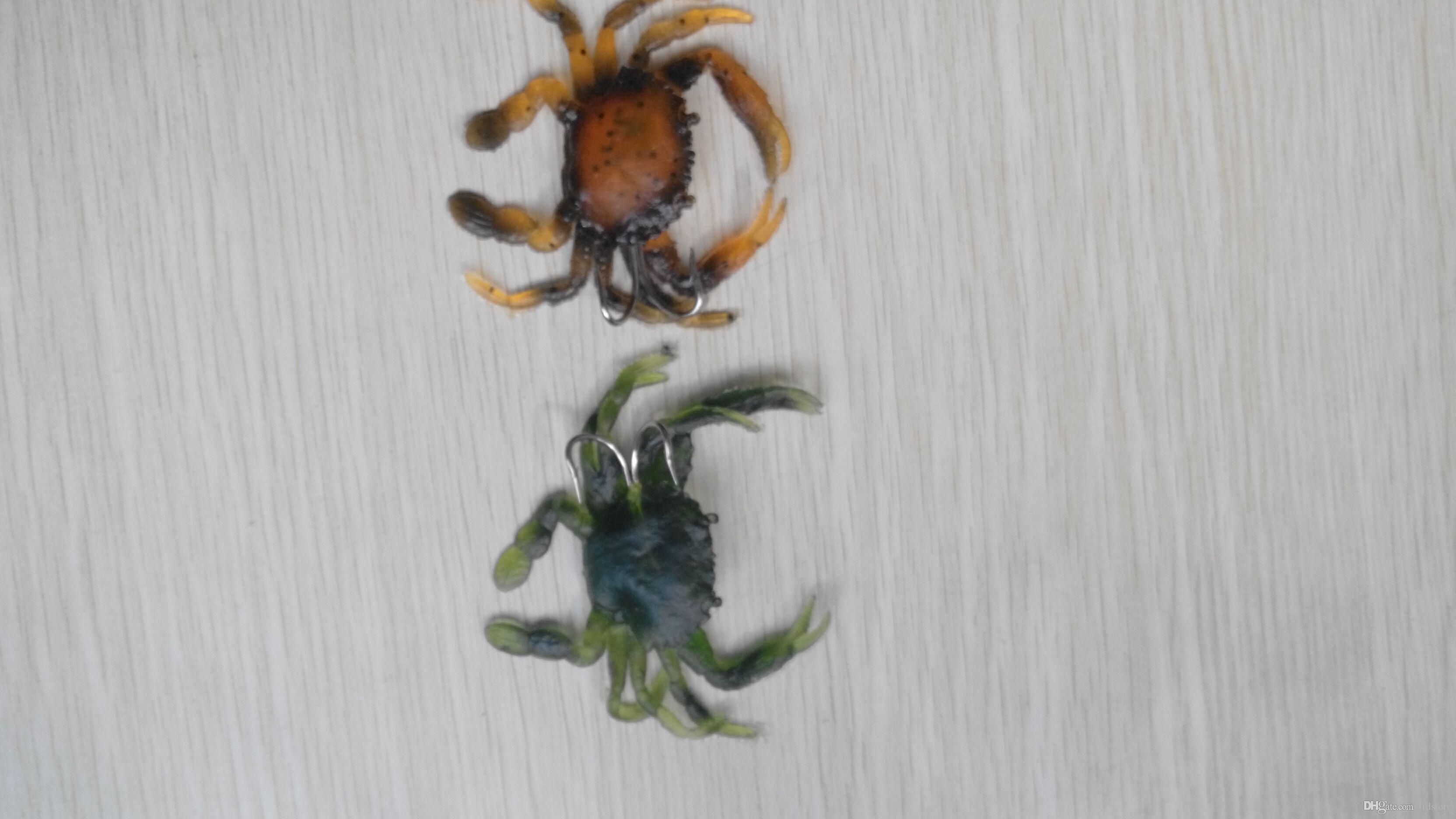 Caranguejo macio da isca da isca da caranguejo de 8cm caranguejo com ordem da cor da mistura do gancho do triplo