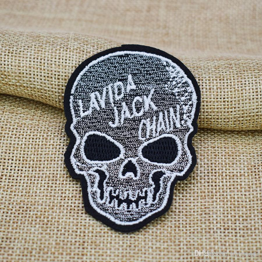 skull embroidery patches for clothing iron patch for clothes applique sewing accessories stickers badge on clothes iron on patches DIY