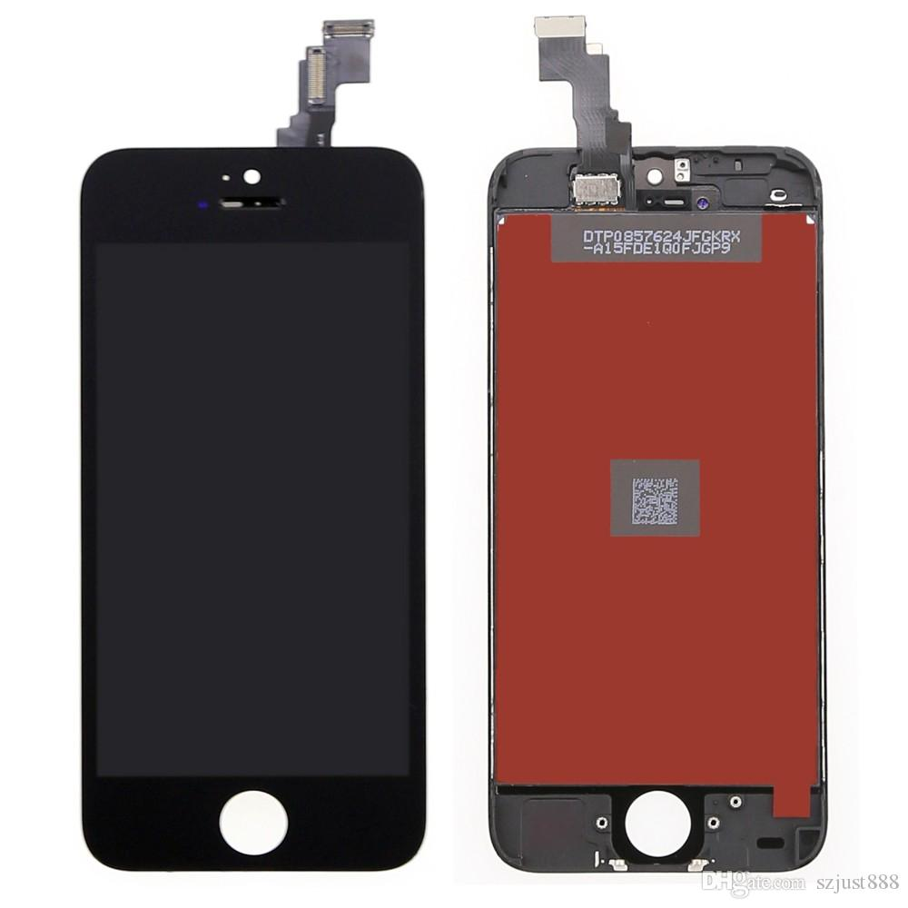 2018 Grade AAA For Apple iphone 5C LCD Display Touch Screen with Digitizer Assembly Replacement , Black & Tools !