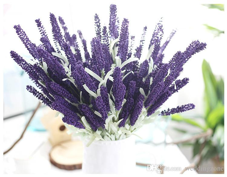Colorful Artificial Lavender 12 Heads 51CM/20inch Bouquet Foam Flower For wedding Decoration Home Party Decoration