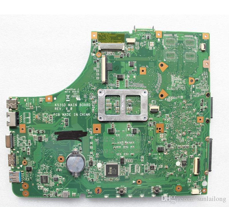 K53SD Main Board Rev 6.0 For Asus K53E K53S K53SD Laptop Motherboard Replacement intel i3 CPU Included