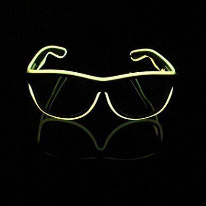 Glow Sun Glasses Led DJ Bright Light Safety Light Up Multicolor Frame Voice control led flashing glasses
