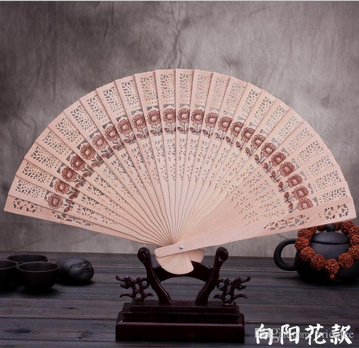 Ventilatori in legno 40 * 23 cm Ventilatori di sandalo cinese fan ventilatori da sposa Signore Ventilatori a mano Pubblicità e promozionali Fan Pieghevoli Accessori da sposa Accessori da sposa