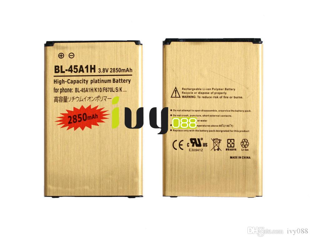 2850mAh BL-45A1H BL45A1H Gold Replacement Battery For LG K10 F670L F670K F670S K420N LTE Q10 K420 Batteries Batteria Batterie