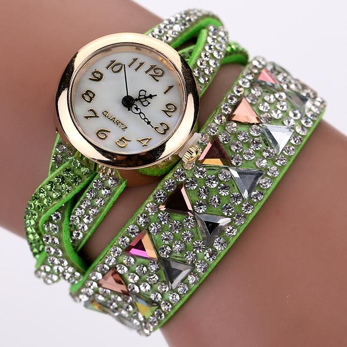 Fashion Watch Women Popular Rhinestone Luxury Bracelet Wristwatch Women Lady Female Dress Cheap Electronic Quartz Watch