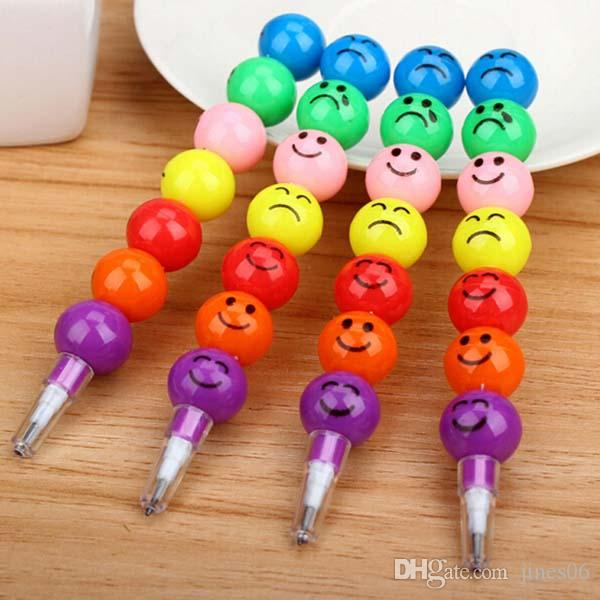 /Smiley Pencils Sugar-Coated Haws Pencil Cute Prize Gifts School Office Supplies Promotional Pens Papelaria Material Escolar