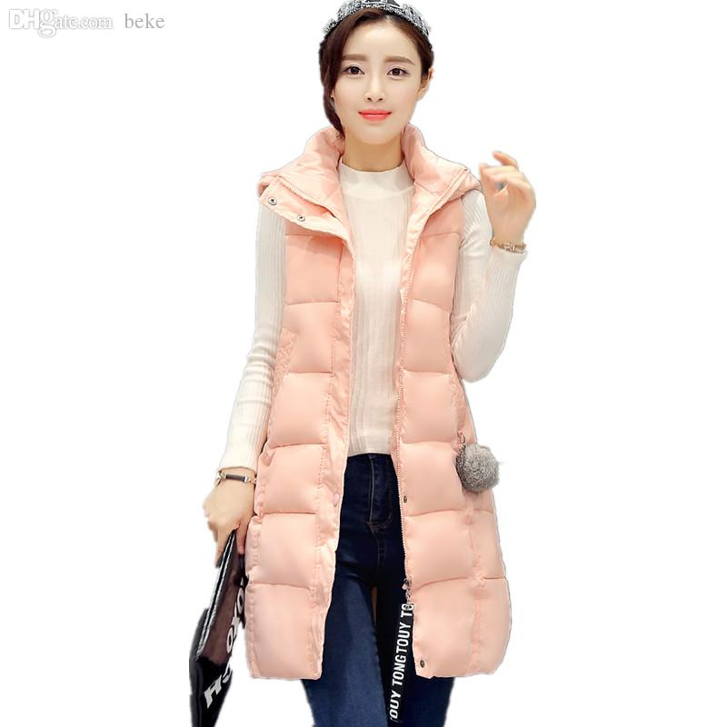 Women's Clothing Vests & Waistcoats Winter Vest Women Long Casual Slim Solid Big Hood Waistcoat Vest Autumn Sleeveless Cotton Padded Parka Coat For Female Customers First