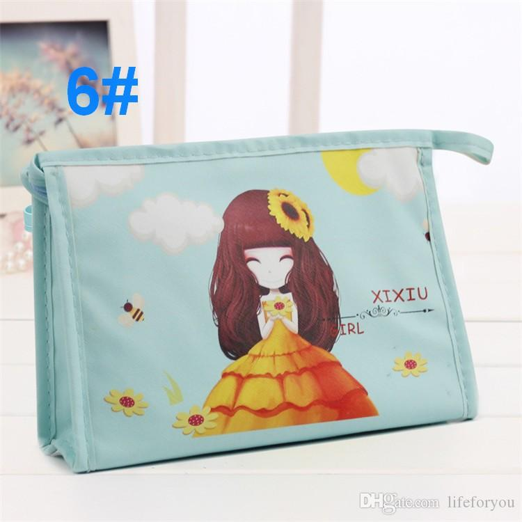Girls Cosmetic Bag Makeup Travel Toiletry Clutch Purse Holder Waterproof nylon Beauty Portable Wash Make up Bag Organizer