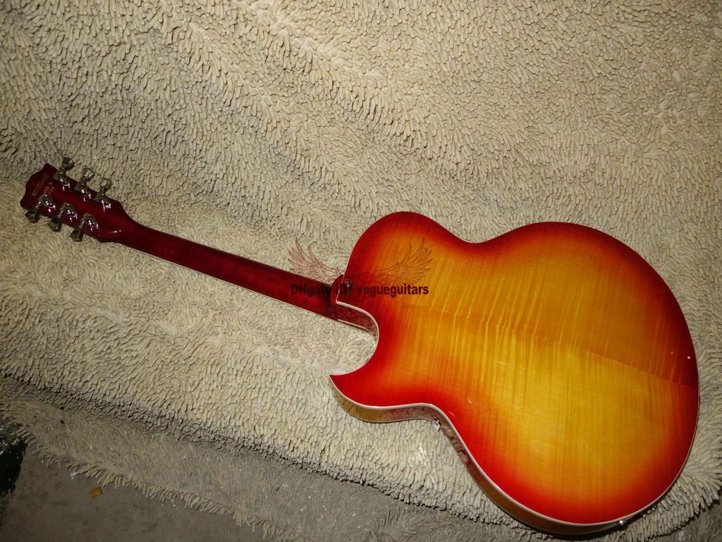 137 Jazz Electric 기타 할로우 바디 기타 IN 시베리아 호랑이 체리 버스트 IN A111119