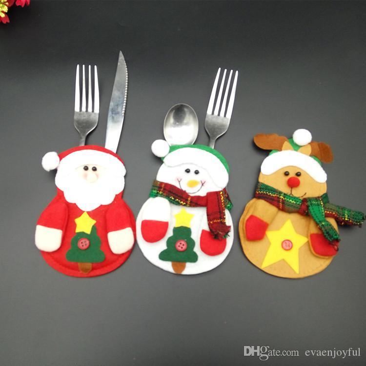 Xmas Decor Lovely Snowman Kitchentableware Christmas Silverware Holder For Cheap Christmas Dinnerware Set Christmas Outdoor Decorations Cheap Christmas ... & Xmas Decor Lovely Snowman Kitchentableware Christmas Silverware ...