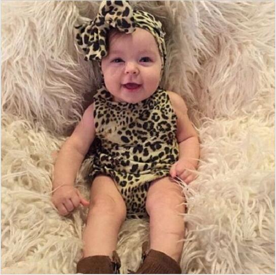 Baby girls leopard print blommig hårband båge knut huvudband spädbarn elastisk stretch hårband barn hår tillbehör 20st / parti