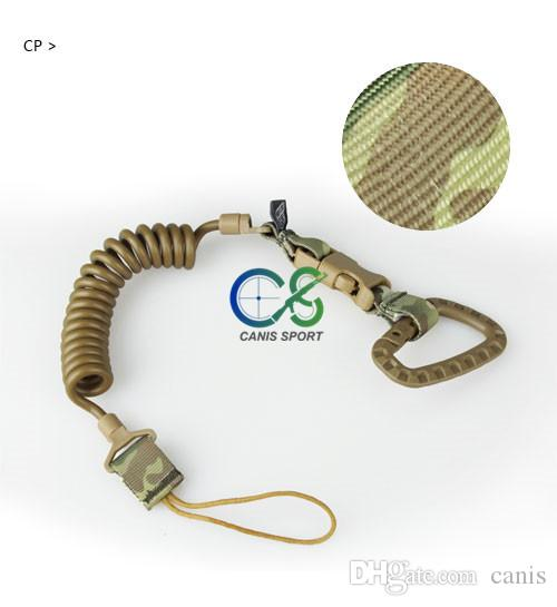 Tactical Accessories Airsoft Sling Tactical Spring Sling With Hanging Buckle Black CP ACU CL13-0045