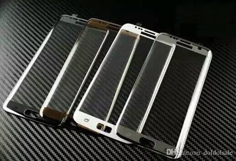 3D изогнутые полный закаленное стекло пленка для Samsung Galaxy S7 G930 G9300 S7 Edge + очистка салфетки весь экран протектор полное покрытие