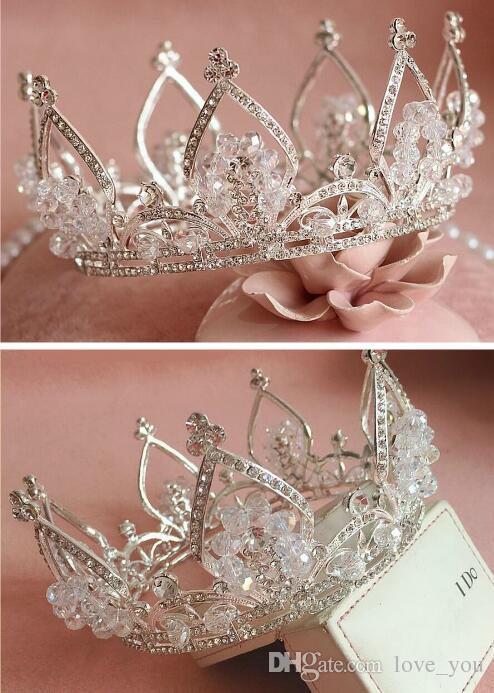 Лучшие продажи старинные серебряные свадьбы Tiara Bridal волосы корона оголовье аксессуары женщины ювелирные изделия