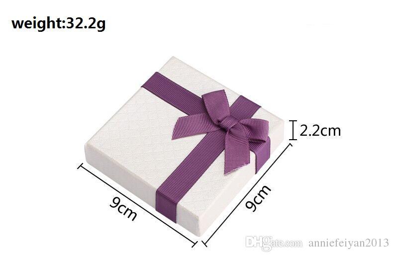 مجموعات كاملة مجوهرات / المصوغات قلادة أقراط خواتم أساور أساور هدايا التعبئة حزمة عرض التغليف عرض مربع القضية مع Bowknot