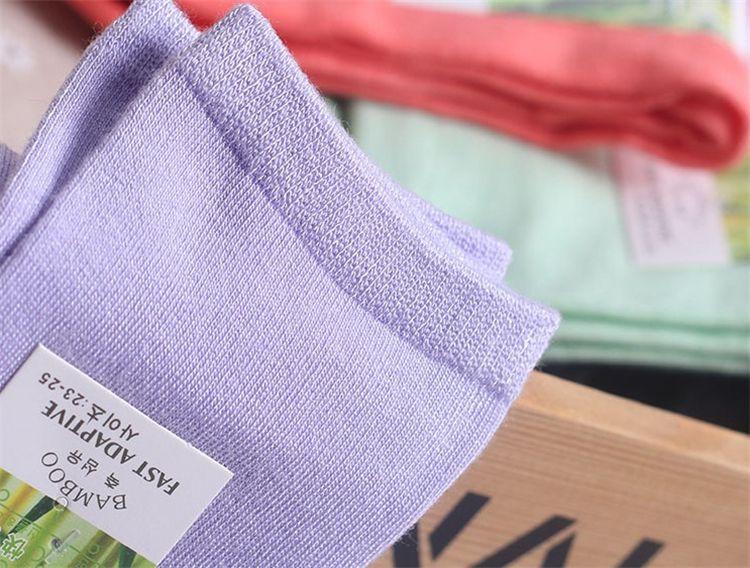 Weiche Bambus Socken Frau Socken Freizeit 13 Farben Mode Socken Frauen Mädchen Socken Frauen Einfarbig Baumwolle Socken B0816