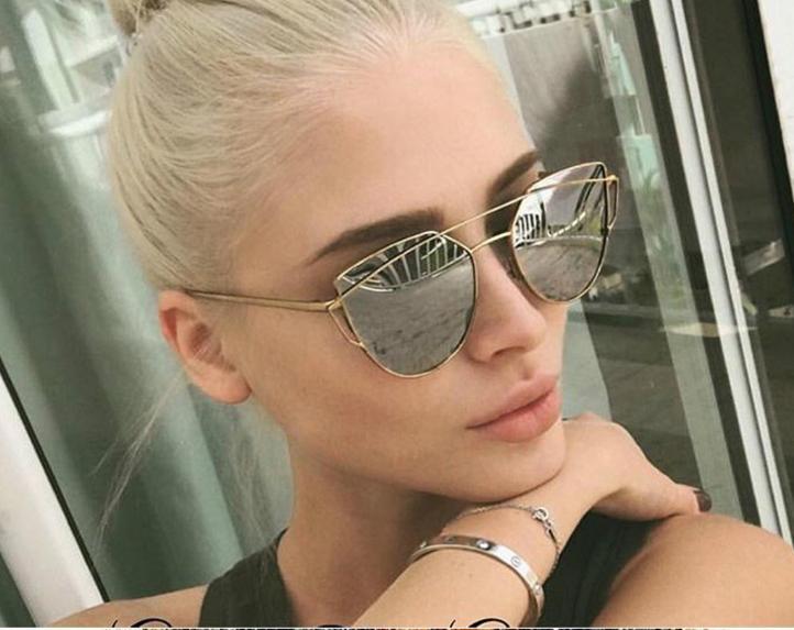 9ad99d97167 Women Retro Metal Frame Mirrored Sunglasses Oversized Cat Eye Glasses  Eyewear Sunglasses Oversized Metal Frame Online with  8.02 Piece on  Dhjewelryshop s ...