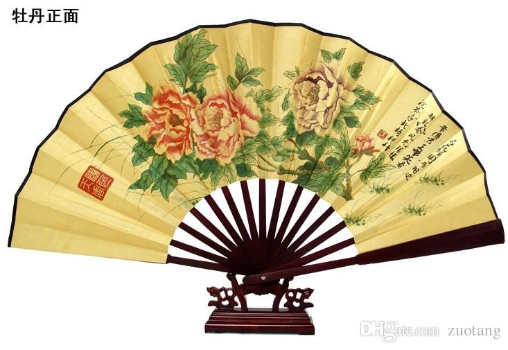 Large Chinese Silk Folding Hand Held Fan Wedding Christmas Birthday ...