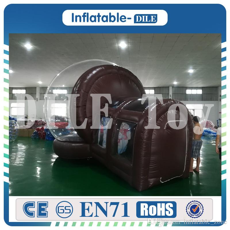 Camping bolla tenda, 0,8 millimetri PVC gonfiabile esterna cupola trasparente tenda, fiera tende gonfiabili, grande tenda gonfiabile Dome evento