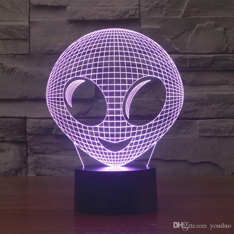 Free Shipping 3D DECOR The MOVIE alien shape LED Night Light lamp 3d  acrylic lamps