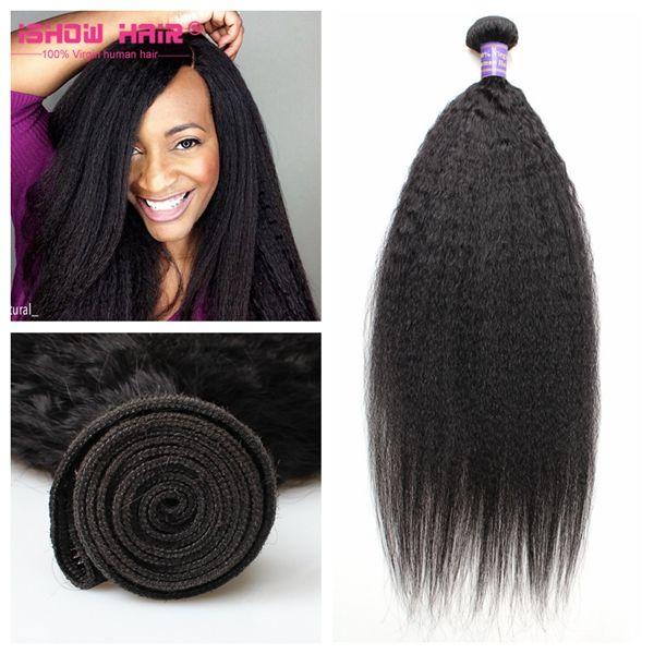 Popular 3 Bundles 300g Yaki Straight Weaving Human Hair Hairstyles