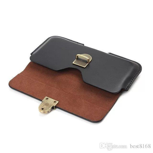 الورك أفقي الحافظة عامة جلدية حالة كليب للحصول على اي 12 11 XR XS MAX X 8 7 6 SE غالاكسي ملاحظة 10 9 S20 LG K31 K41 الهاتف حزام الحقيبة حقيبة