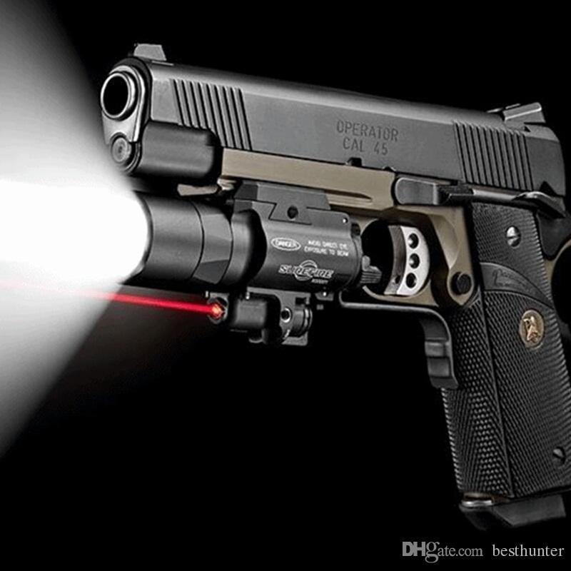 Surefire LED Rifle X400 pistola torcia con mirino laser rosso portata del fucile la caccia