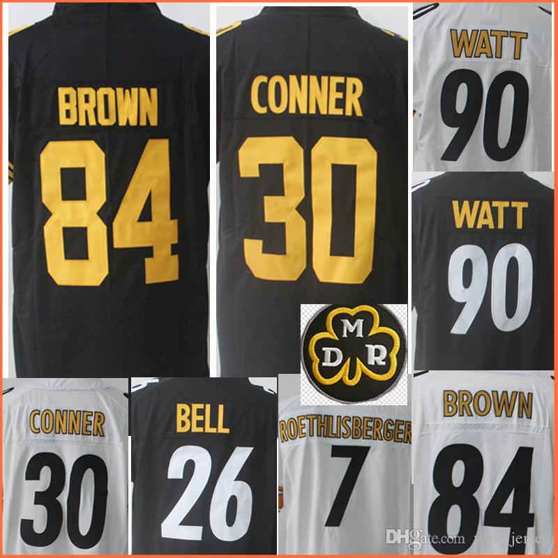 950f4666c ... Mens 84 Antonio Brown 30 James Conner 90 T.J. Watt Jersey 7 Ben  Roethlisberger 26 LeVeon ...