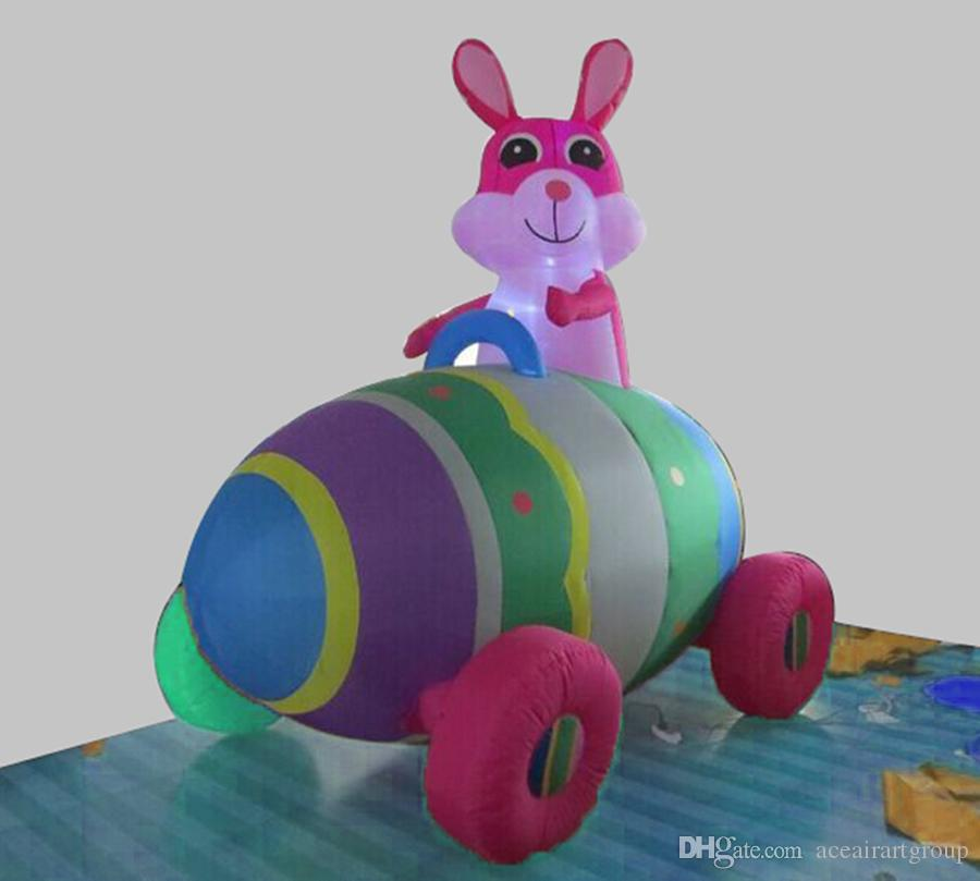 Custom size ride the eggs of the rabbit easter decoration inflatable bunny