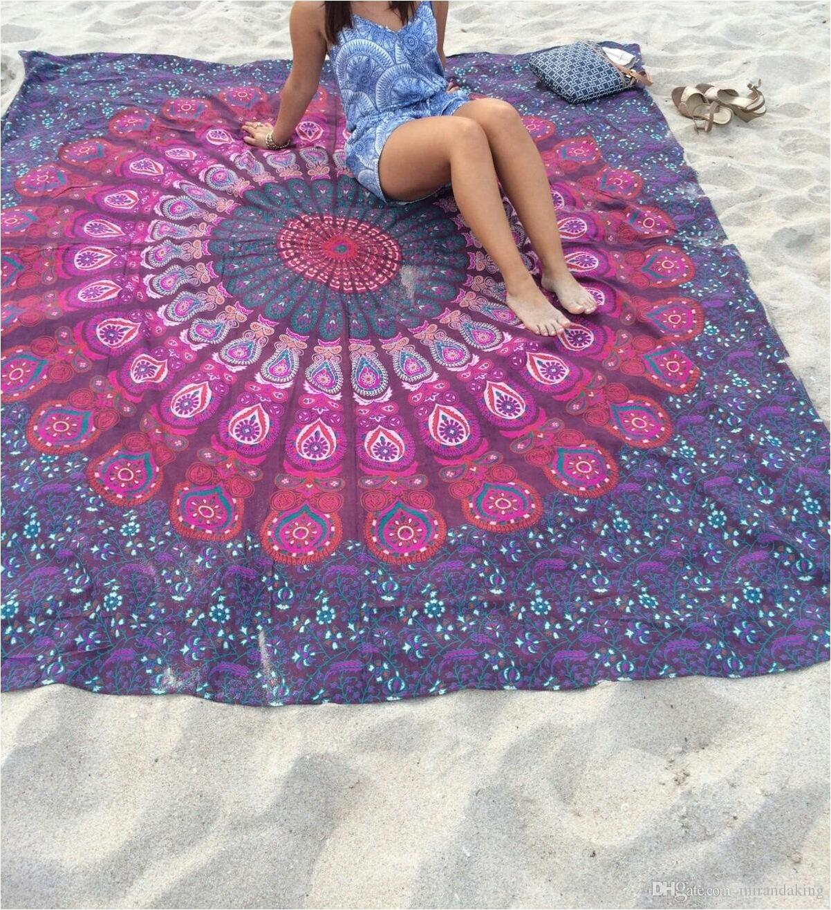 Pink Wall Tapestry ethnic rectangle new floral summer camping beach towel hippie