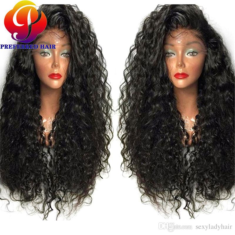 Synthetic Lace Front Wigs For Black Women Long Curly Lace Front Synthetic Wig with Baby Hair Glueless Heat Resistant Lace Wig