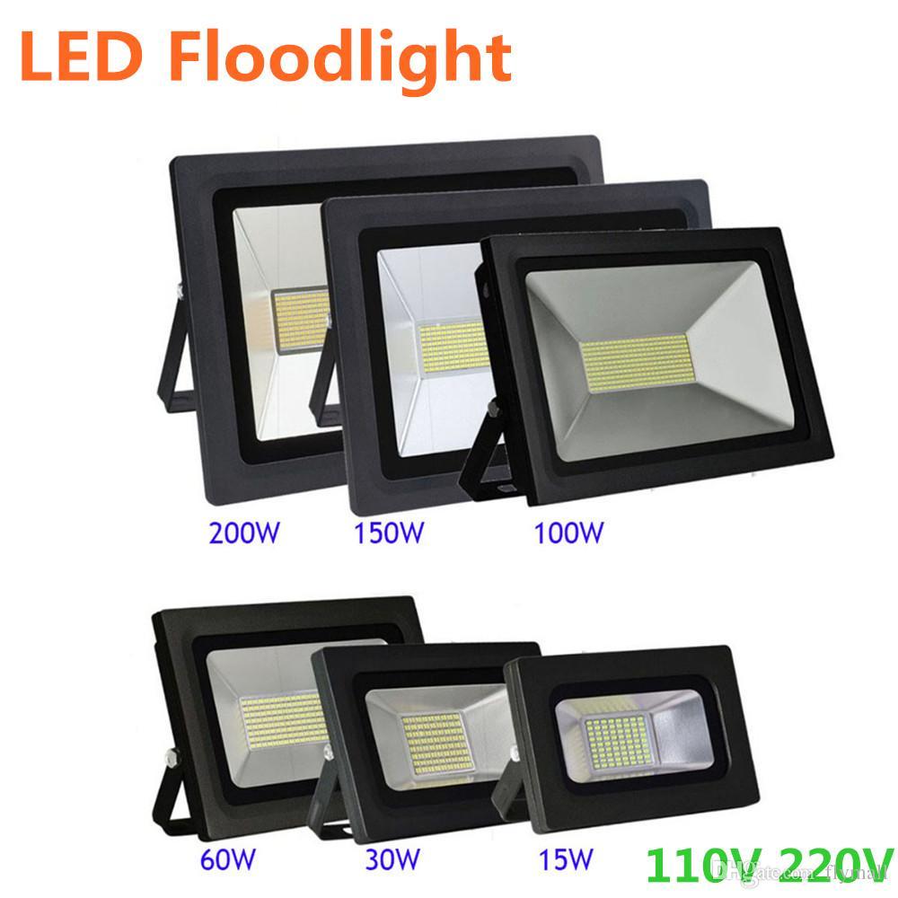 LED Floodlight 200W 150W 100W 60W 30W 15W Reflector Led Flood Light Landscape Spotlight 220V 110V Waterproof Outdoor Wall Lamp Projectors