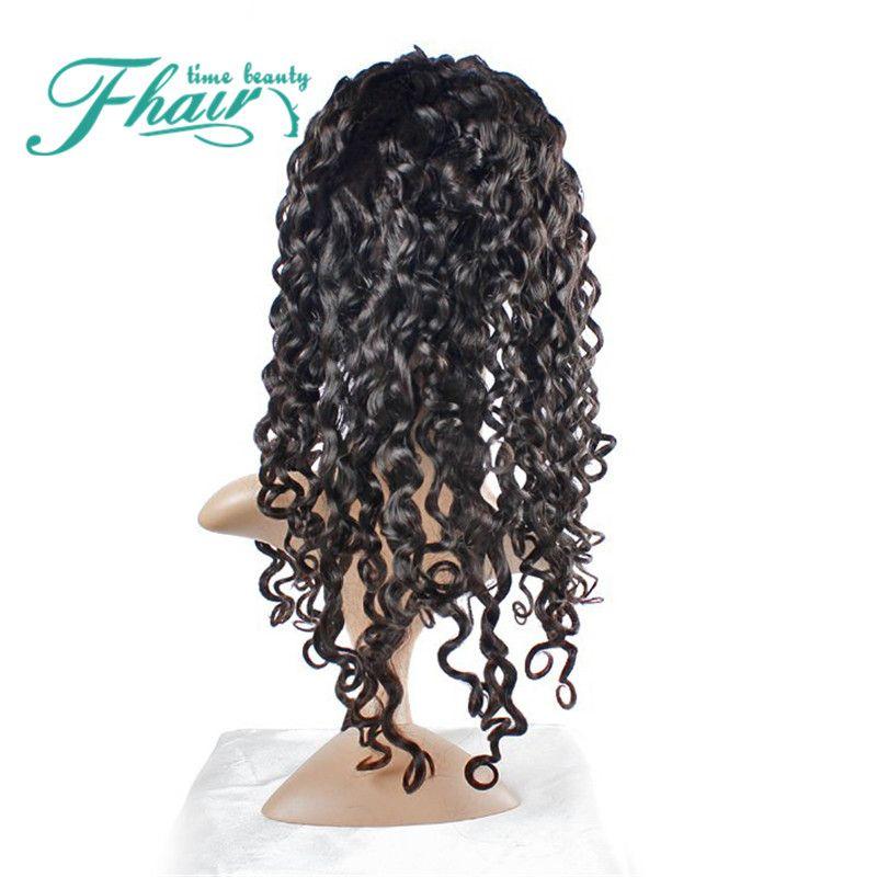 Siyah Kadınlar Için 8A Bakire Tam Dantel Gluless İnsan Saç Peruk derin Dalga Dantel Ön İnsan Saç Peruk 130 Yoğunluk Ağartılmış Knot