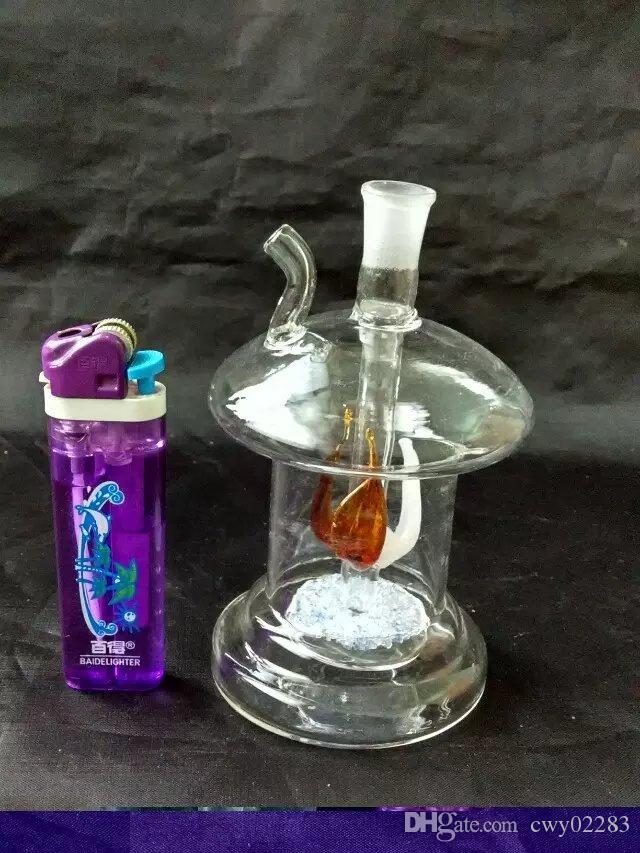 새로운 버섯 물 담뱃대, 도매 유리 봉 액세서리, 유리 물 파이프 흡연, 무료 배송