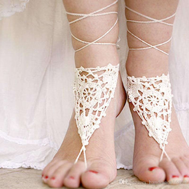 Crochet womens shoes wedding beach wedding shoes barefoot crochet crochet womens shoes wedding beach wedding shoes barefoot crochet sandals beach wedding crochet beach sandles nude shoes gift for her cheap shoes for junglespirit Images