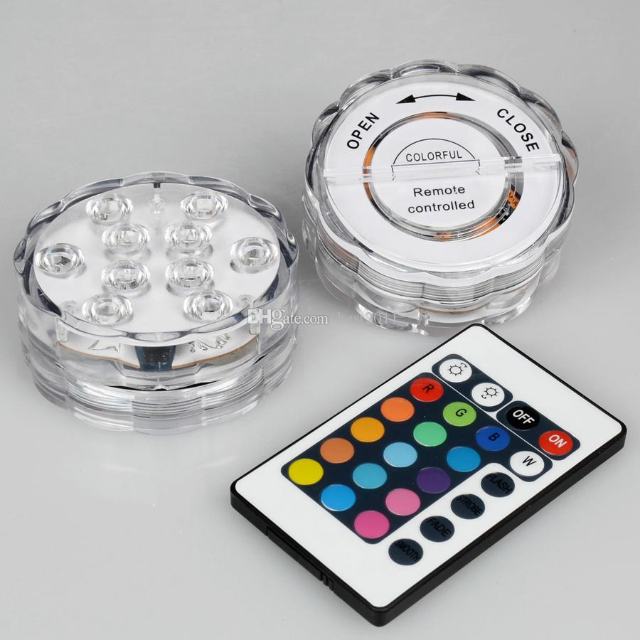 100% водонепроницаемый RGB погружной светодиодный светильник 3aaa аккумулятор работает под светом вазы с дистанционным управлением светодиодный светильник