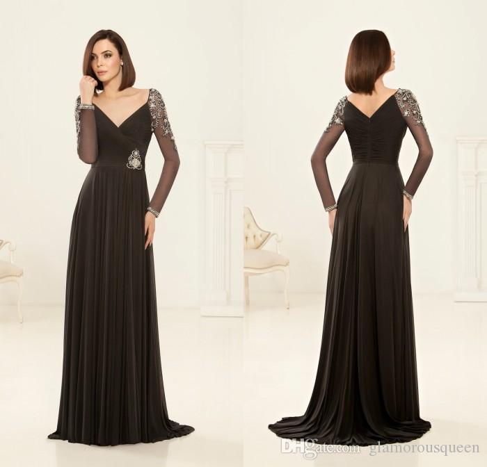 ce939ff43f Mother of Bride Dresses Vestido De Madrinha Chiffon V Neck Long ...
