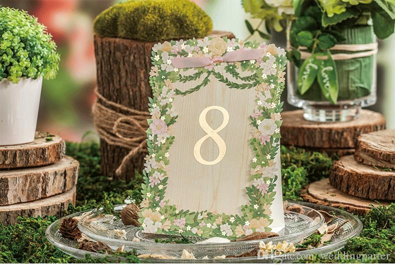 Korea style floral laser cut wedding table card seat card wedding korea style floral laser cut wedding table card seat card wedding decorations party place card name card hollow seating cards buy wedding decorations cheap junglespirit Image collections