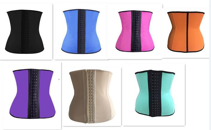 Steel Bone Latex Rubber Body Shapers Waist Trainer Training Corsets ... dd012faee