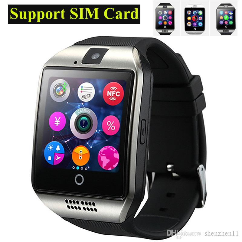 3c581a5dcdd4 2016 NFC Smart watch Q18 1.54 HD pulgadas Cámara de pantalla táctil  smartwatch soporte Tarjeta SIM TF para IOS y Android HTC teléfono VS APRO  Q18S OTH289