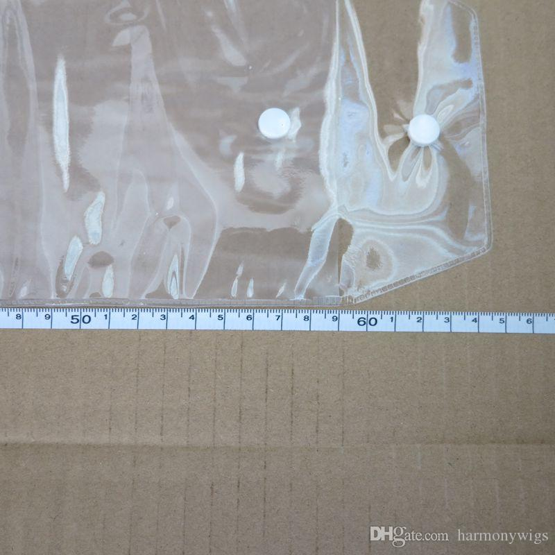 Le paquet en plastique de PVC met en sac des sacs d'emballage avec Pothhook 12-26inch pour emballer des trames de cheveux fermant de bouton de prolongements de cheveux humains