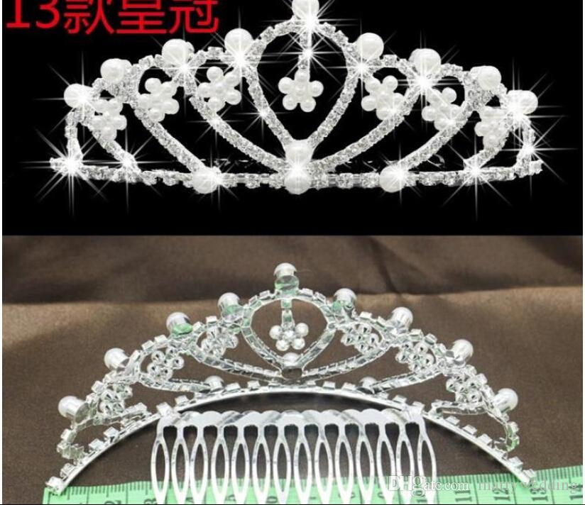 2016 Cheap Glitering Bridal Tiara Four Style Rhinstone Crystal Shinning Peal Hair Accessories Headpieces Wedding Accessories for Bridal