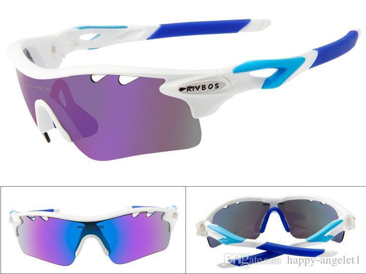 2016 neue Polarisierte Racing Sport Radfahren RIVBOS Marke Sonnenbrille 5 Objektiv / Pce Brillen Fahrrad Gläser