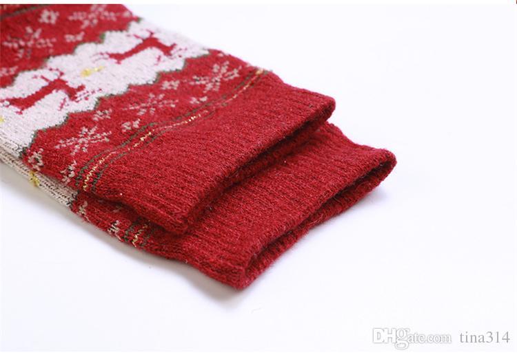 Women Socks Christmas Deer Cartoon Design Casual Knit Wool Socks Men Winter Warm Shorts Ankle Socks BC530