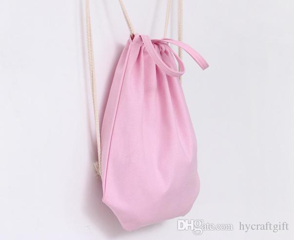 fc0afc9462 NEW Girls Eco Canvas Drawstring Backpack Blank Plain Organizer Rucksack  Travel Sports Bags Handbag For Men Women Kids DIY Gift Crafts Bags Rolling  Backpacks ...