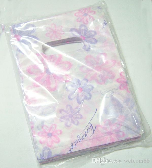 / mix färger stil plast shopping presentväskor påsar förpackning display för DIY mode smycken wb6