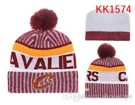 7952d7ec3f1 New Fashion Winter CLE CAVS Basketball Hats for Men Women Knitted ...