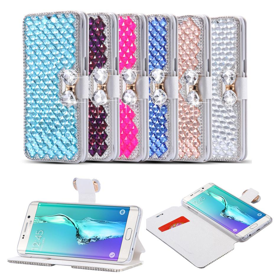 For iPhone 11 Pro XS XR MAX X 8 7 Diamond Rhinestone Case For Samsung Note 10 9 S10 S9 S8 Plus Bling Flip Leather Case Wallet Stand Cover