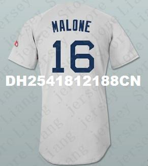 sale retailer bbef6 d78b6 High-grade Men's #16 Sam Malone Red Sox Ted Danson Cheers Baseball Jersey  OR custom Any Name or Number gray embroidery jerseys