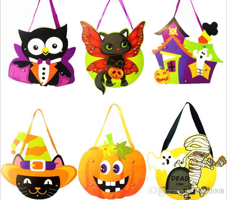 Großhandel Halloween Geschenk Taschen Diy Papier Halloween ...